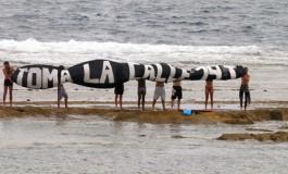 El #19J toma la Barra Grande de la playa de #LasCanteras.