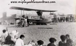 Hidroavión en la playa de Las Canteras. 1928