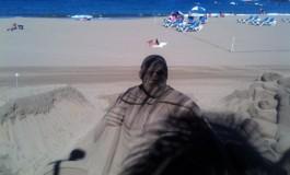 Ojo con el sol que esta fuerte ¡ Hasta Espartaco está a la sombra.