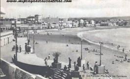 La playa de Las Canteras sobre 1960.
