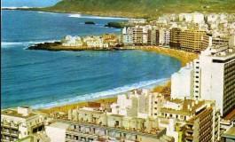 Vista de la playa, sobre el año 1975.