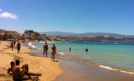 Azul, verde y amarillo, los colores de la playa ( Foto Efraín Castellano).