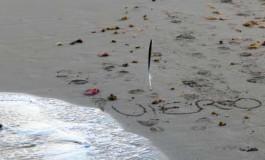 La ola borró para siempre el `te quiero´ dibujado en la arena.