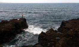 Pescando desde los volcánicos Caletones.