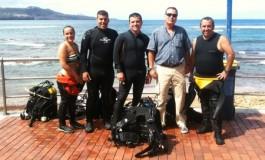 Enrique Faber y sus compañer@s ilusionados con el FotoSub que empieza este viernes en Las Canteras.