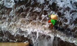 Atravesando la marea llena.