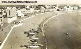 La playa de Las Canteras en 1900.