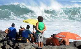 En primera fila del espectáculo de las olas.