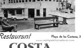 Publicidad del Restaurante Costa Bella, sobre 1970.