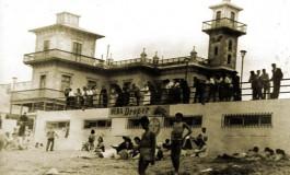 El antiguo balneario y el desaparecido Colegio Viera y Clavijo. Sobre 1935