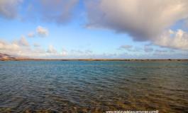 Cielo, arrecife y mar.