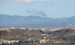 Fuego en la cumbre, desde Las Canteras.
