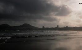 Temprano en la playa de Guanarteme.