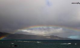 Un arco iris de julio.