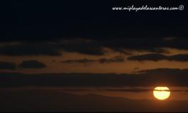 La última puesta de sol de julio.