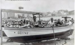 Pescadores con el barquillo la Maria
