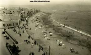 La playa de Las Canteras en 1930. La foto es de la FEDAC.