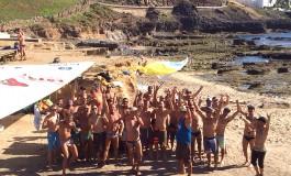 Los surferos de El Confital celebran su tradicional ágape navideño