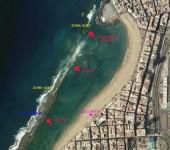 Los oleajes y corrientes en las diferentes partes de la playa de Las Canteras (1ª Parte). La Playa Grande