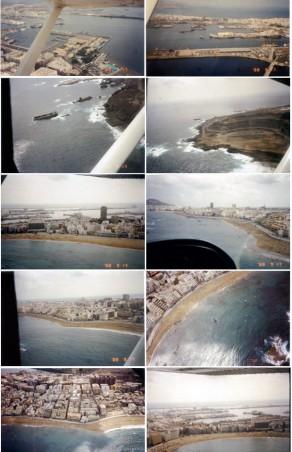 Reportaje fotográfico. Paseo en avioneta sobre Las Canteras en 1988