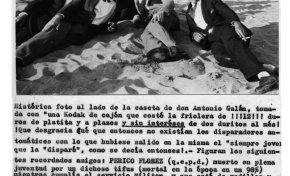 1928, comentario sobre una foto de la época (II). Junto a la caseta de Antonio Galán