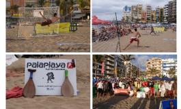 Las PALASCANARIAS, el nuevo juego de las clásicas palas de playa inventado y reglamentado en la playa de Las Canteras.