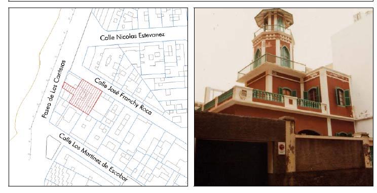 """Edificios protegidos del entorno de la playa de Las Canteras 4 de 8: """"Casa Sánchez Rivero"""""""