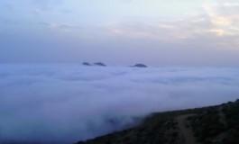 El día que la playa de Las Canteras y la ciudad de Las Palmas G.C. amaneció dentro de una nube.