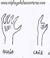 Antiguos juegos playeros(4)-Fincho, Huevo, Araña y Caña