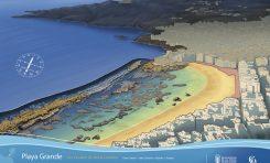 Mapas de buceo de la playa de Las Canteras y bahía de El Confital
