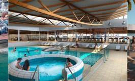 El próximo verano podrás bañarte en las piscina o ir al gimnasio del nuevo centro  deportivo de La Cicer/ La playa ganara espacio de arena al retranquearse el actual solar.