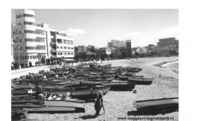 Las fotos históricas de los marineros holandeses por Las Canteras de 1963