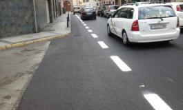 Foto noticia: Así será el carril bici en la calle Secretario Padilla, itinerario ciclista que viene de la zona del Auditorio.