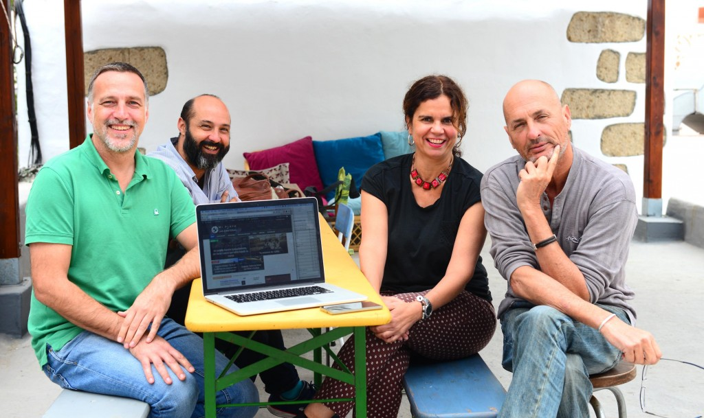 De izq a dch: Ted Stresen-Reuter, Boro Galván, Ángeles Arencibia y Tino Armas.