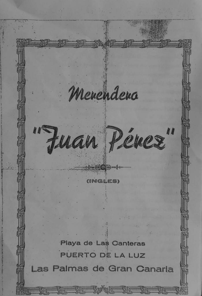 La carta del Juan Pérez