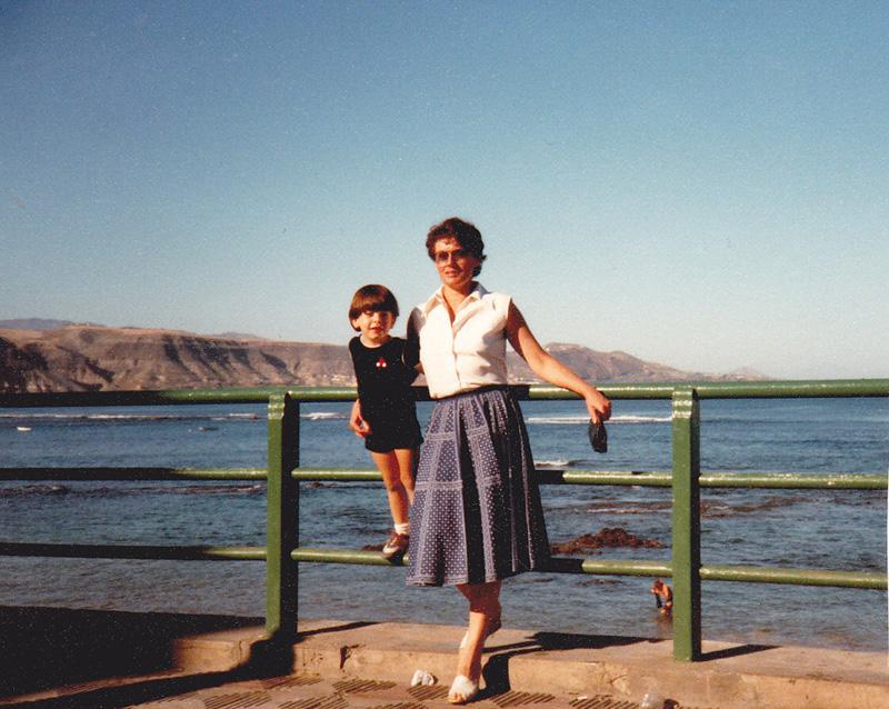 Christian con su madre Marianne