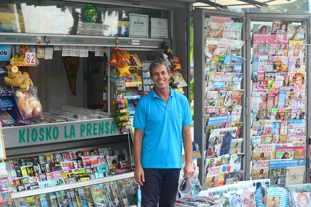Quiosco La Prensa, historia del parque Santa Catalina