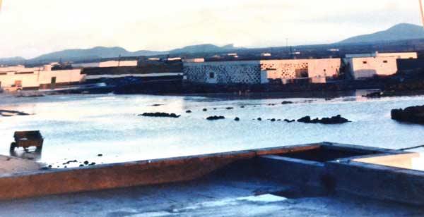 Inundaciones en Lajares (Fuerteventura). Foto de Paco Melián Santana (Blog de etnografía de Fuerteventura)