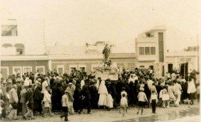 La Virgen de la Luz de procesión por Las Canteras