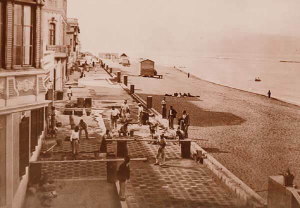 Construcción del paseo en 1940