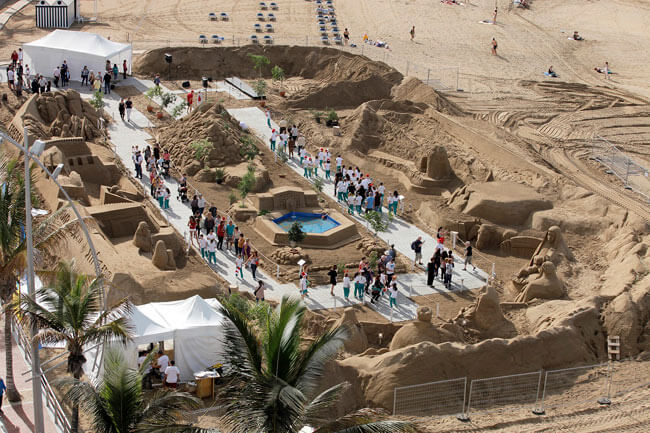 El Belén de Arena seduce a 23.000 visitantes en su primer fin de semana de exhibición