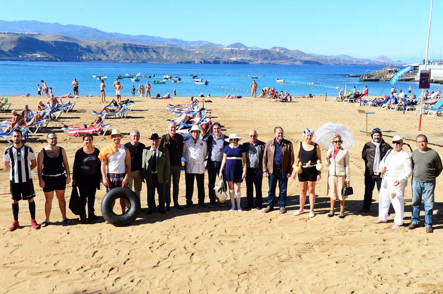 La playa de Las Canteras vuelve este domingo al siglo XX