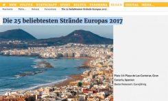 Uno de los mayores periódicos regionales de Alemania coloca a Las Canteras entre las mejores playas de Europa en 2017