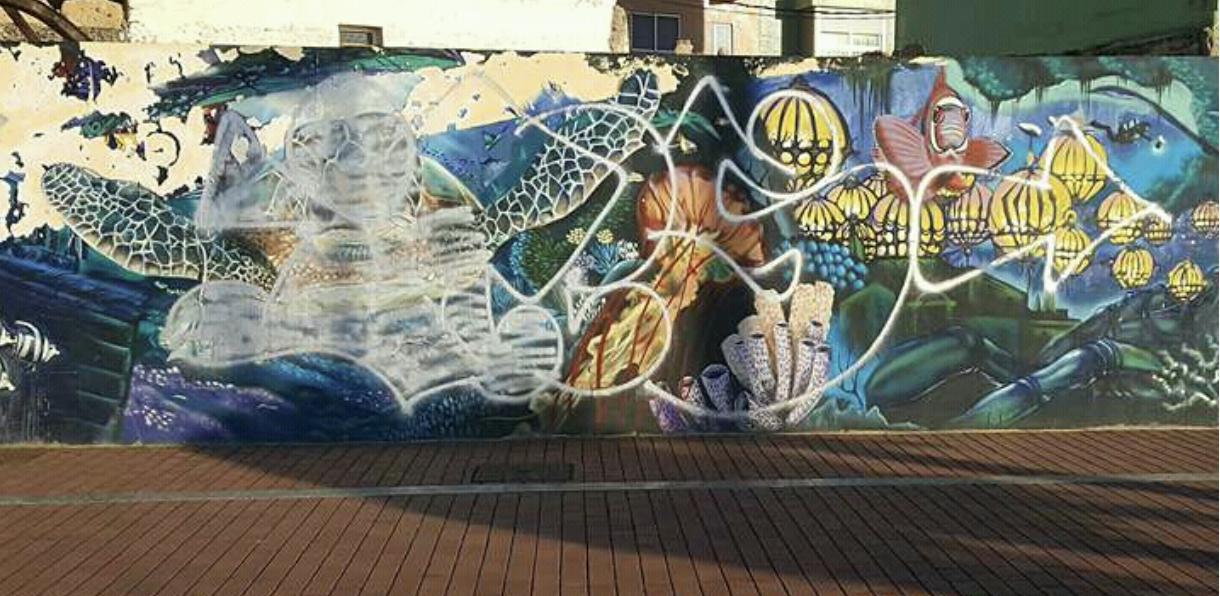 Destrozado el mural de la Cicer