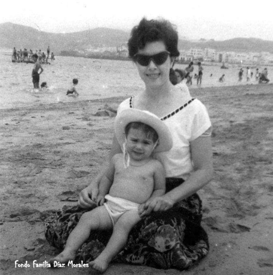 Pino Díaz y su hijaMaría Eugenia