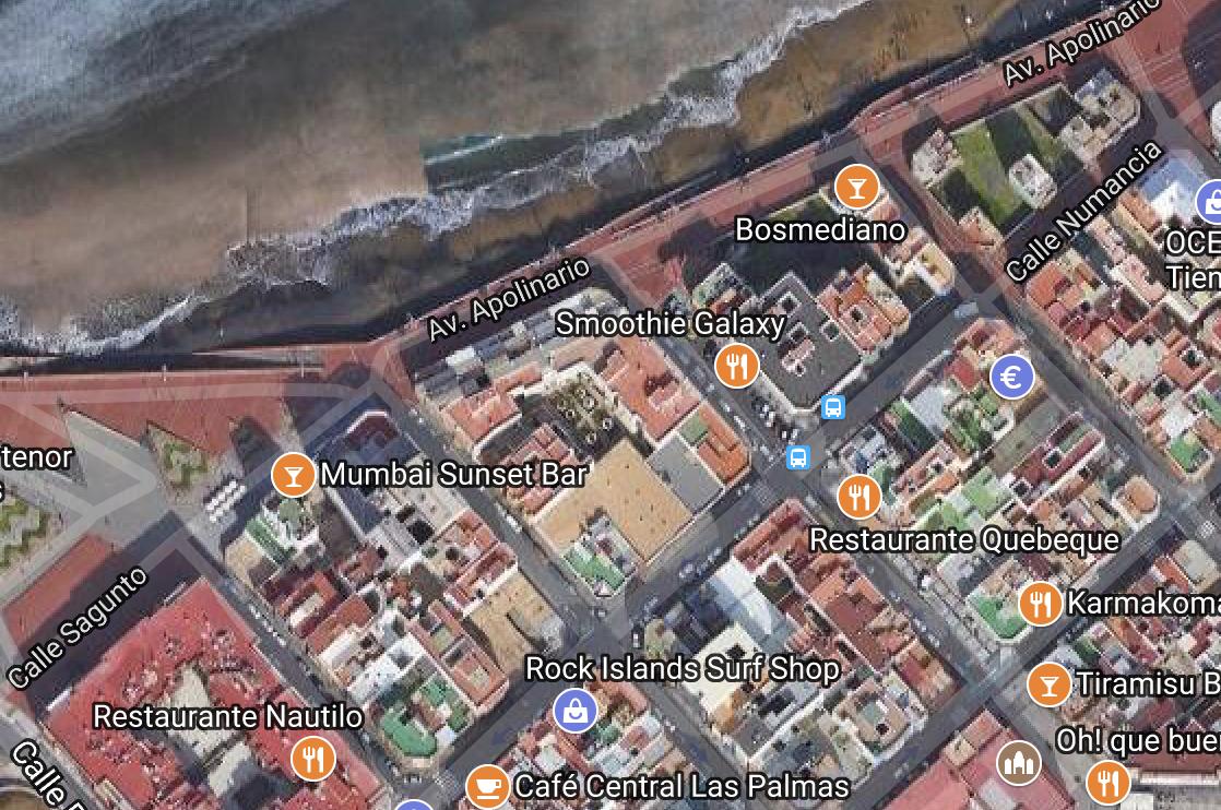 Las calles Covandonga, Lepanto y Párroco Francisco Rodríguez podrán ser peatonales en su tramo pegado a Las Canteras