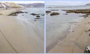 La arena empieza a tapar la zona del Charcón