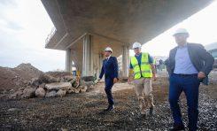 Las obras de la nueva pasarela de La Cícer enfilan su recta final tras acabar los derribos e iniciar los trabajos de remate