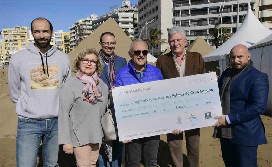 El Belén de Arena cierra su 12ª edición con 171.000 visitantes y 18.000 euros para los comedores sociales