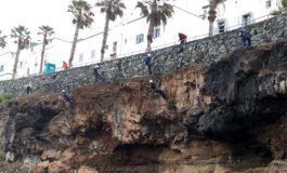 El Ayuntamiento inicia sondeos geotécnicos para verificar el estado del acantilado donde se produjo el derrumbe